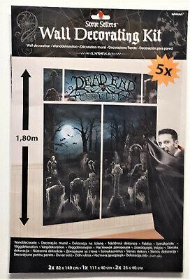 Wand-Deko Halloween Horror Friedhof Dracula  Leiche  Vampir Zimmerdekoration