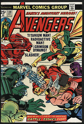 AVENGERS #130. THOR VS IRON MAN. GLOSSY CENTS COPY. NICE PAGES ()