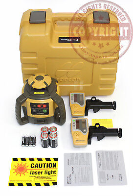 New Topcon Rl-h5a Self-leveling Rotary Grade Laser Level 2 Receivers Transit