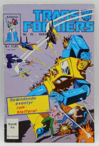 1989 vintage Marvel Comics TRANSFORMERS #10 comic book Danish BUMBLEBEE Rare !!