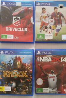 4 x PS4 Games Plympton Park Marion Area Preview