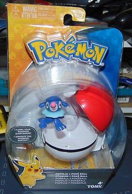 Pokemon Clip n Carry Pokeball & POPPLIO Figure Set