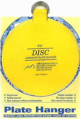 Original Invisible Disc Adhesive Plate Hangers Set of 4x5.5""