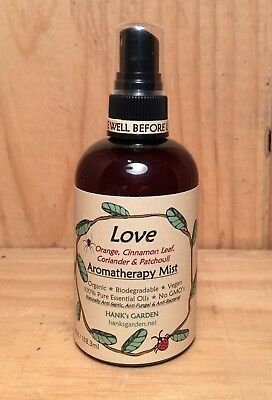 LOVE Aromatherapy Mist Spray-organic vegan-Orange,Cinnamon,Coriander & (Organic Vegan Honey)