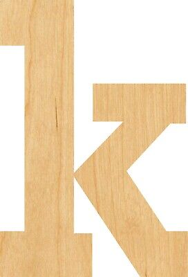 Letter K Craft (Lowercase Letter K #0891 Laser Cut Out Wood Shape Craft Supply -)