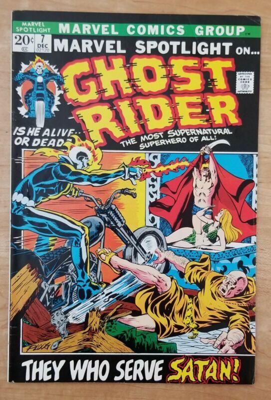 Marvel Spotlight # 7  Ghost Rider 🔥 🔥  Marvel 1972 VF/NM