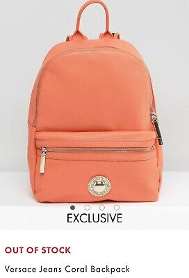 Versace Jeans Coral Backpack With Dustbag & Tags Paperwork RARE Sold Out