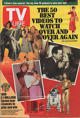 1991 TV GUIDE June 15-1 The 50 Best Videos to Watch Over and Over