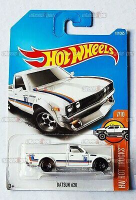 Damaged - DATSUN 620 #181 white - HW Hot Trucks - 2017 Hot Wheels D2
