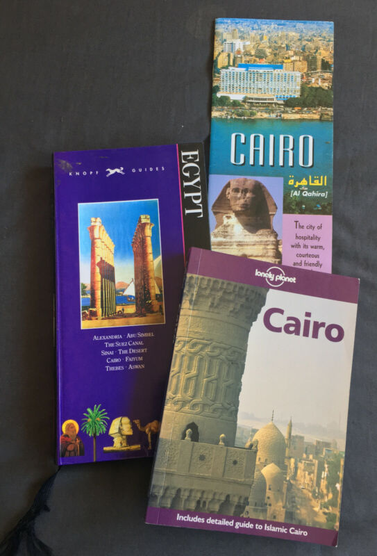 EGYPT MAP / CAIRO by Lonely Planet / EGYPT - KNOPF GUIDEBOOK / +!*!+**