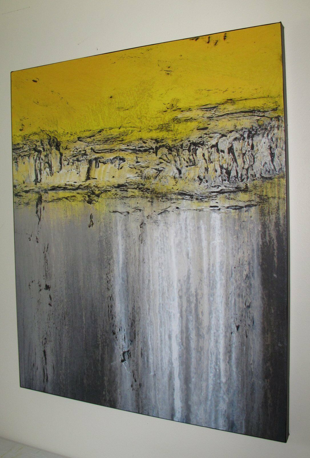 ABSTRACT MODERN PAINTING CANVAS WALL ART Direct From Artist, LARGE, US ELOISExxx - $165.00
