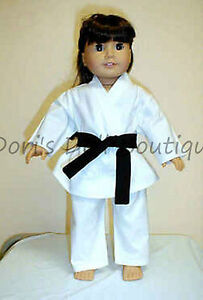 4 PC KARATE SET Doll Clothes made for 18 inch American Girl