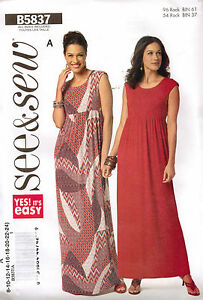 From-UK-Sewing-Pattern-Dress-8-22-Butterick-5837