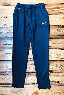 Nike Academy Tech Training Dri Fit Joggers Medium Navy Logo Zip Cuffs Football