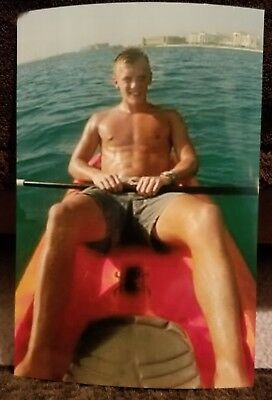 Shirtless Male Muscular Hunk in Boat Shorts Cute Guy PHOTO 4X6 F524