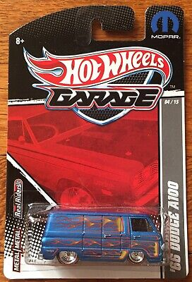 Hot Wheels Garage Mopar Blue Custom '66 Dodge A100 Van Real Riders Custom Van