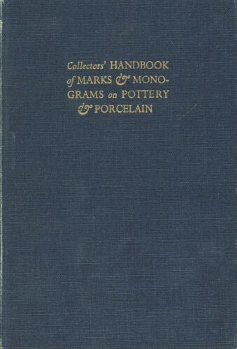 Handbook of Antique Pottery Porcelain Marks Monograms / Scarce Book