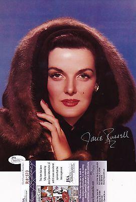 Jane Russell Beautiful Actress Signed 8x10 Photo JSA Certified