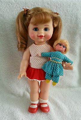 Vintage 1968 Small Talk Buffy and Mrs Beasley Dolls Mattel Family Affair Talking