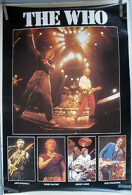 RARE THE WHO 1980 VINTAGE ORIGINAL MUSIC POSTER