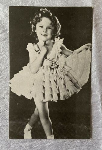 Vintage Arcade Exhibit Card - Child Actress Movie Star Shirley Temple Dress - $10.00
