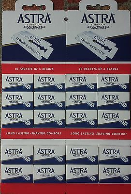 100 Astra Double Edge Razor Blades - Superior Stainless - FAST Shipping