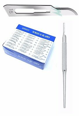 Lot Of 50 Scalpel Blades 15 3 Metal Round Suitable Handle For Dermaplaning