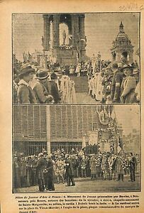 "Cardinal Dubois Fêtes de Jeanne d'Arc à Rouen Monument Statue 1919 ILLUSTRATION - France - Commentaires du vendeur : ""OCCASION"" - France"