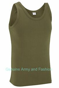NEW-COMBAT-US-OLIVE-ARMY-SINGLETS-SLEEVELESS-VESTS-TANK-TOP-FANCY-DRESS