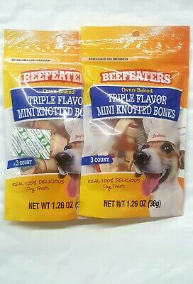 BeefEaters Oven Baked Triple Flavored Mini Knotted Bones 2 oz - Both - Knot Mini Bone