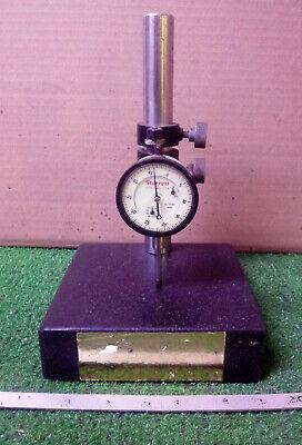 1 Used Starrett No. 25-631 Dial Indicator W Granite Stand Make Offer