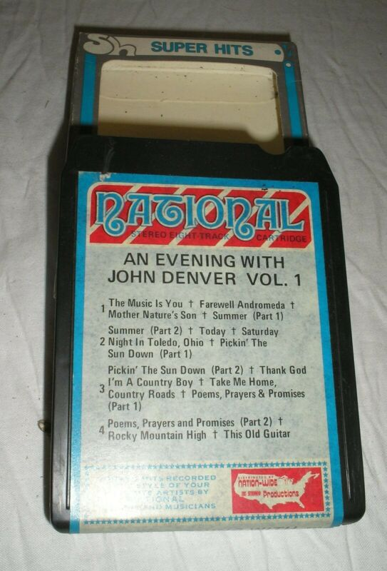 John Denver - An Evening With John Denver Volume 1 - 8 Eight Track Tape