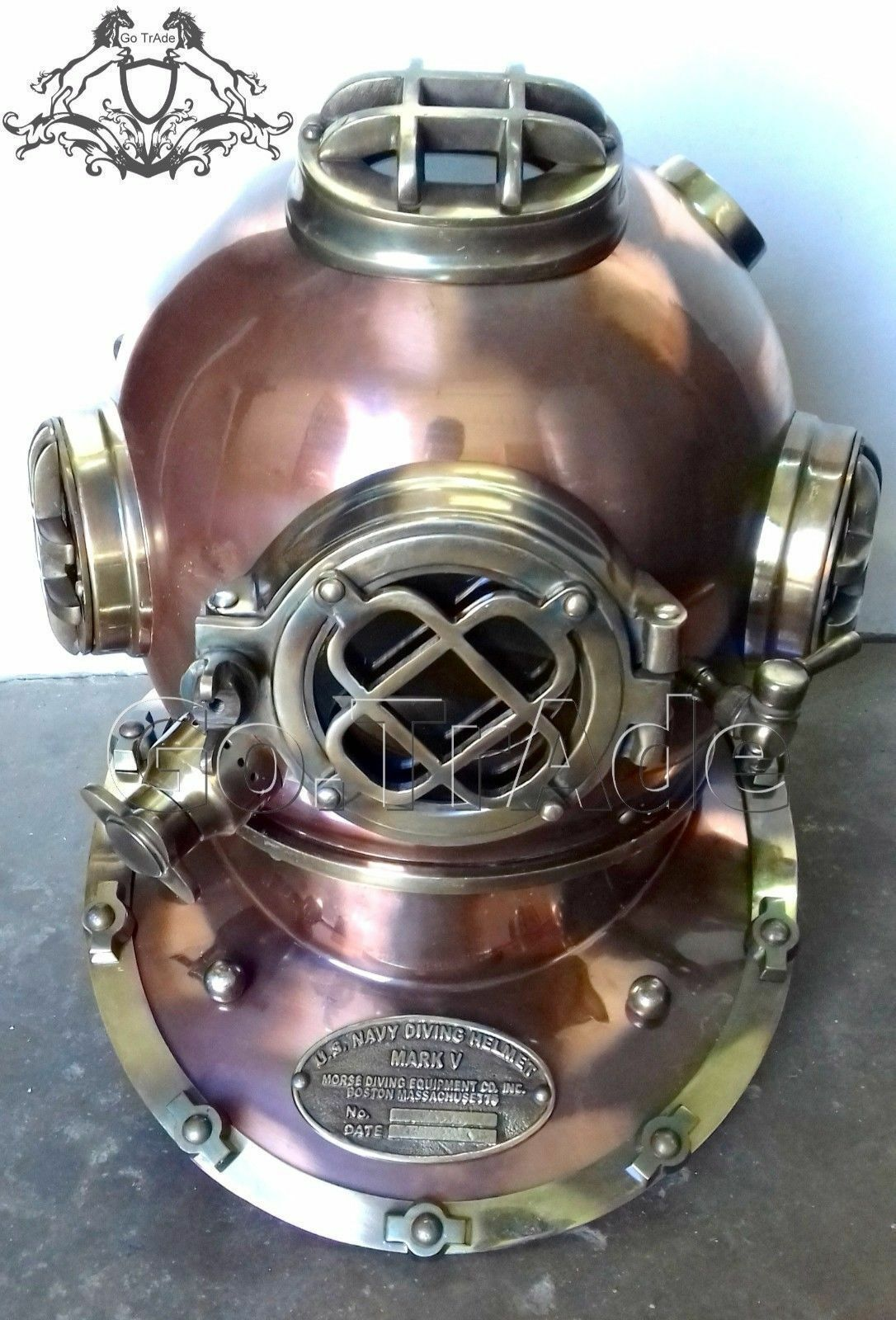Antiques Other Maritime Antiques Us Navy Boston Dive Helmet Scuba Mark V Diving Divers Helmet Christmas Gift