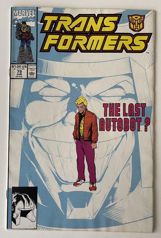 "Transformers #79 (Marvel 1991) The Last Autobot?  ""LOW PRINT RUN"" HTF  ""NICE"""