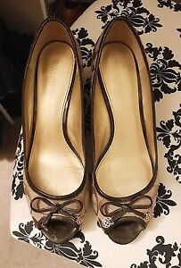Coach wedge heels, size 11, brown patent leather edge