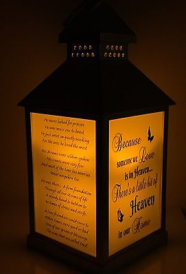 Remembrance/memory Personalised LED Flickering Candle Lantern
