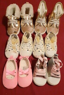 Baby Girls Shoes Lot Size 0, 3-6