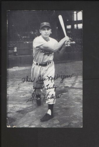 1952 Brooklyn Dodgers Gil Hodges Ebbets Directions Schedule Card