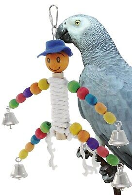 Bonka Bird Toys 1053 Happy Rope Man Bird Toy Parrot Parakeet Conure African grey