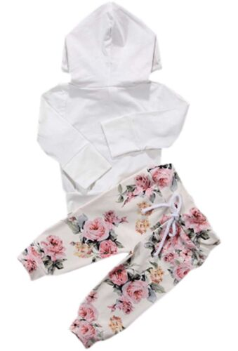 Baby Girls Clothing Set Long Sleeve Hoodie and Pants 3 pcs O