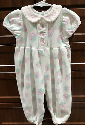 Baby Dior Baby Girl's Strawberry Romper EUC - Size 12/18 Mths