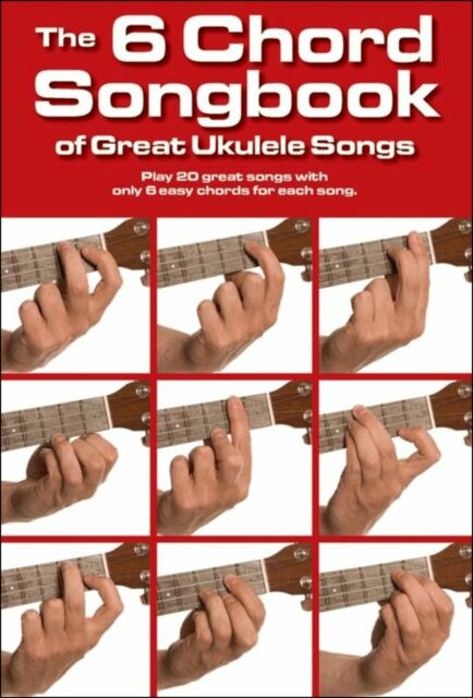UKULELE - 20 SONGS WITH  6 CHORDS - EASY MUSIC BOOK CHORD BOXES Pop Rock Chart