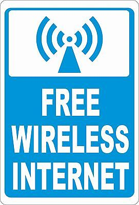 Free Wireless Internet Sign  Size Options  Customers Wifi Wi Fi Service Hot Spot