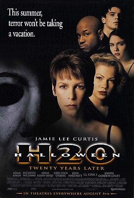 Halloween H20 1998 (Movie Poster 1998 Halloween H20 With Jamie Lee Curtis (3)