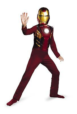 Iron Man 2 - Mark Vi Einfach Kostüm Marvel Comics Kinder Größe 7-8 Nwt 11682