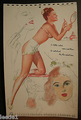 Munson Calendar Page March 1947 Little Color Now & Then Relished By Wisest Men