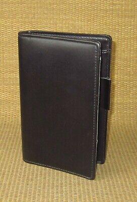 Portable Day-runnertimer Black Sim. Leather .75 Rings Open Plannerbinder