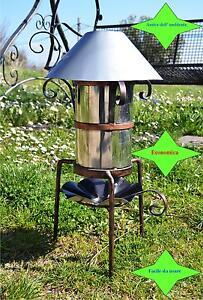 Dettagli su Stufa a pellet per esterno o campeggio a pirolisi cucina ...