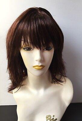 Beverly Johnson Wig, Straight Layered Hair with Bangs, Dark Auburn #33 ()