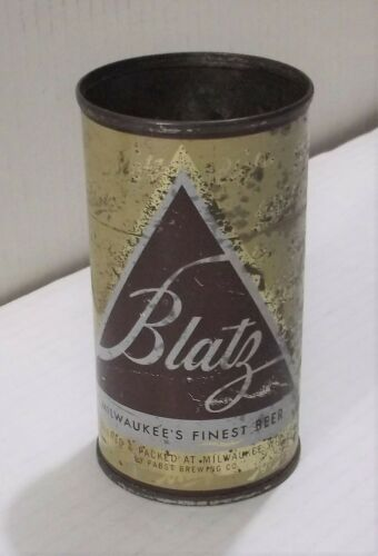 Vintage 1952 BLATZ BEER CAN w/ Top Off/Removed/Open ~ MILWAUKEE, WI